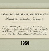 Name Change – Mason, Foulds, Arnup, Walter & Weir