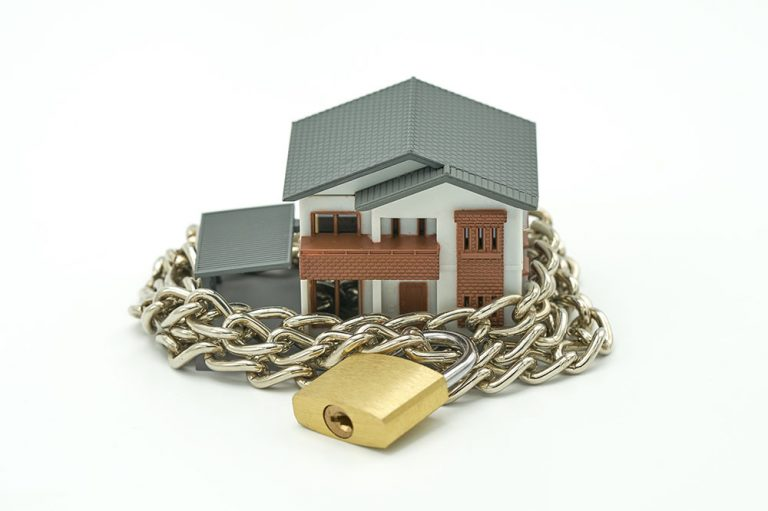 Home in a padlock