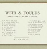 Name Change – Weir & Foulds