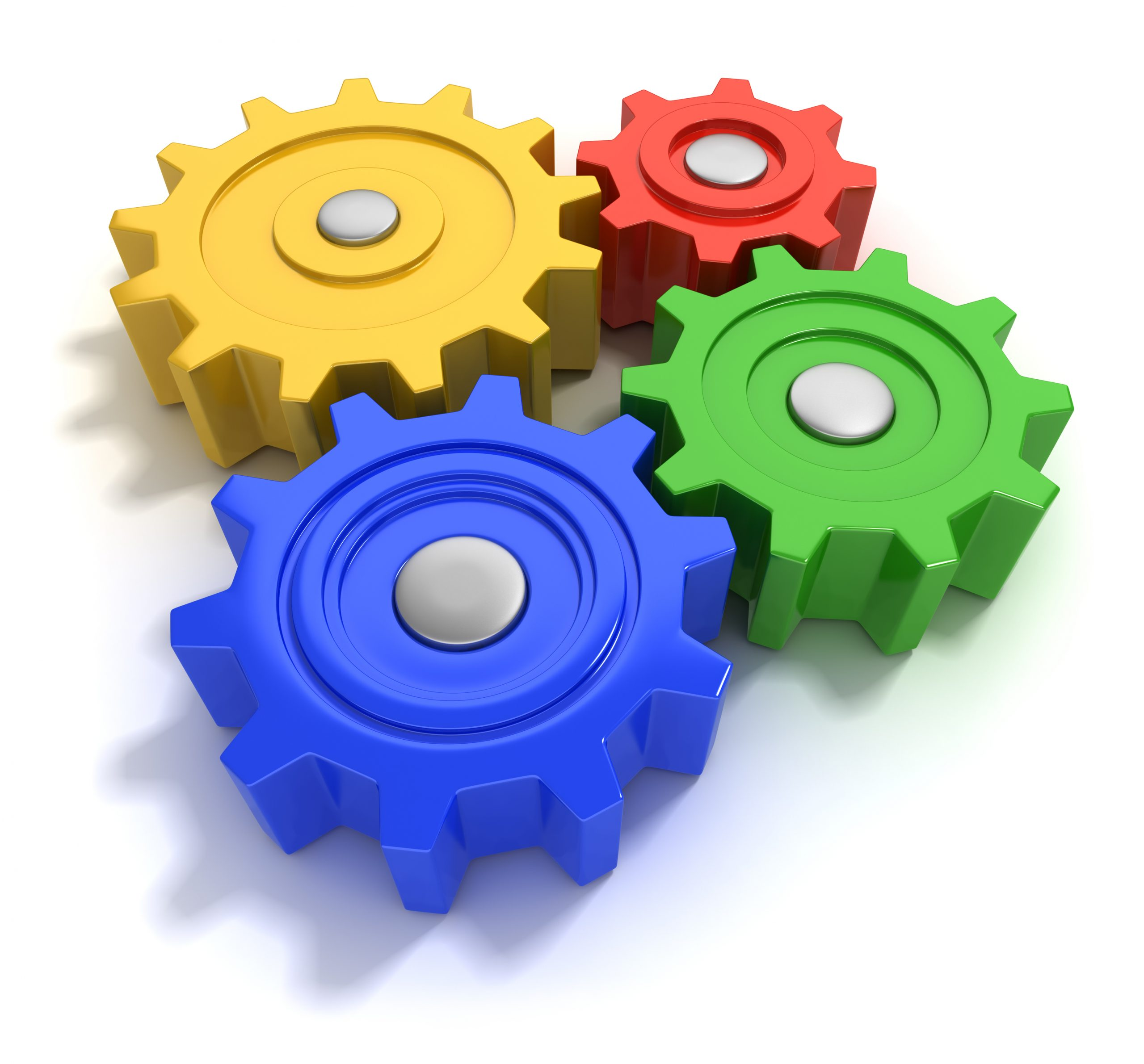 3d illustration of colourful gears